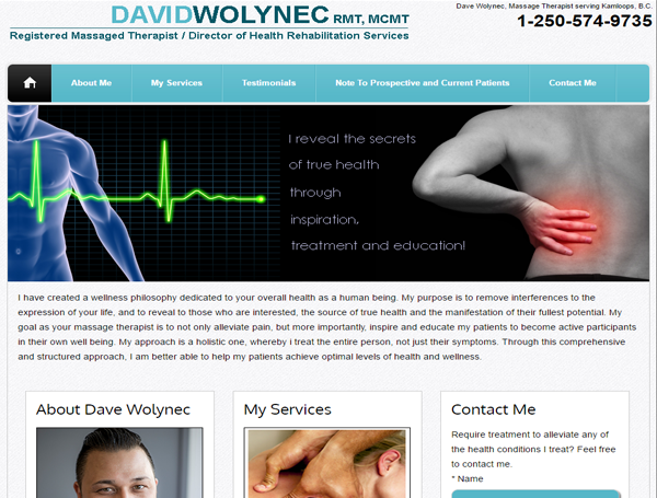 Dave Wolynec - Massage Therapist